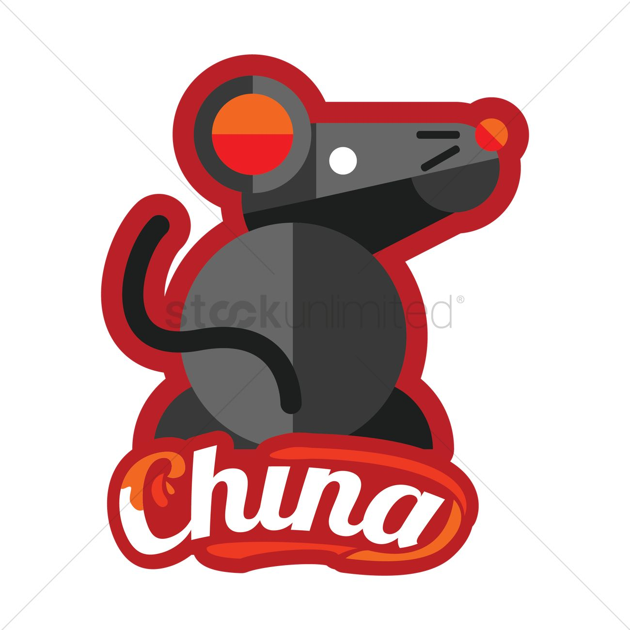 Chinese Zodiac Rat Vector Image 1576915 Stockunlimited