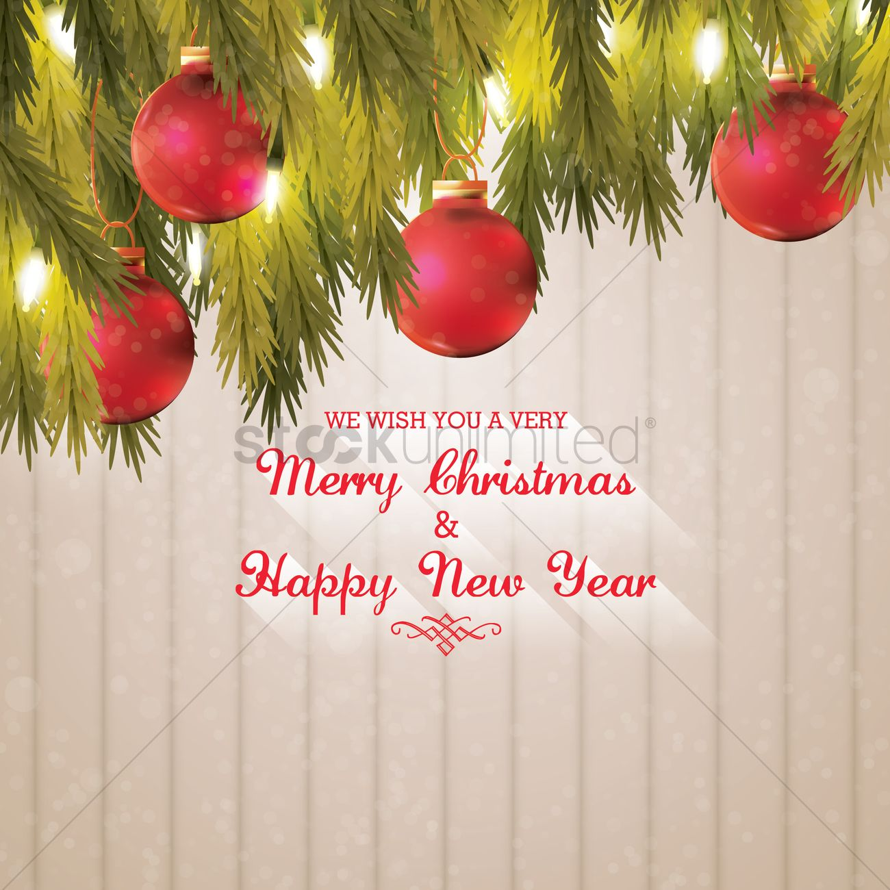 Christmas and new year greetings vector image 1626367 stockunlimited christmas and new year greetings vector graphic kristyandbryce Images