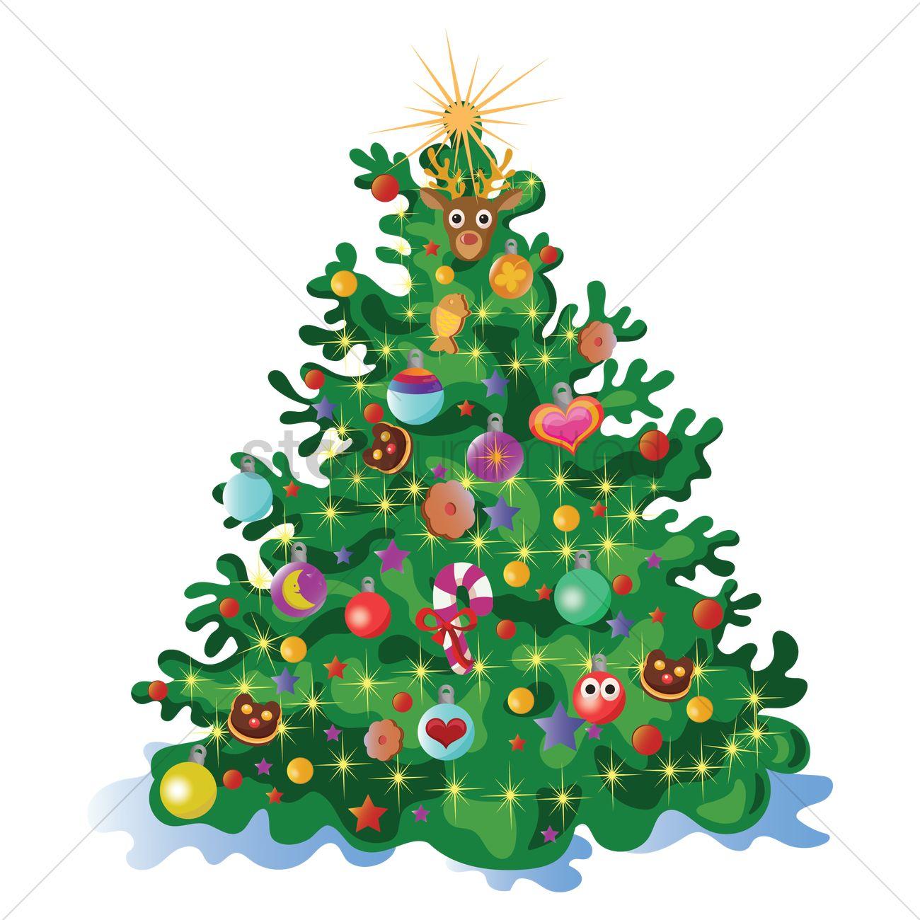 Christmas Tree Vector Free.Free Christmas Tree Vector Image 1511499 Stockunlimited