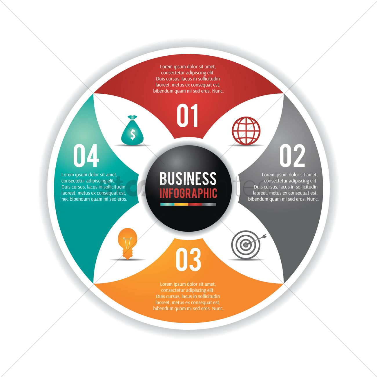 Circle Infographic Flowchart Vector Image 1990595 Stockunlimited