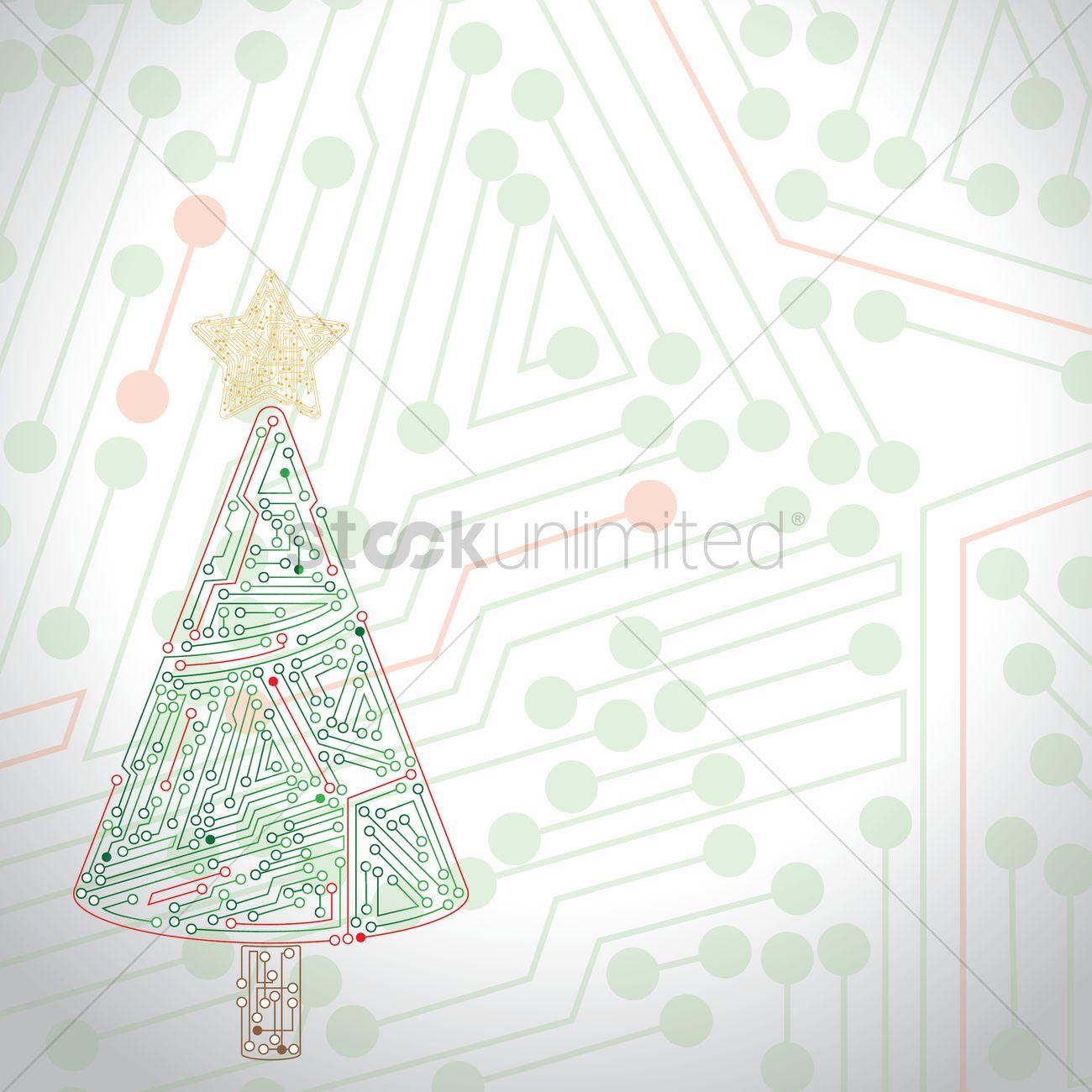 Christmas Board Design.Circuit Board Christmas Design Vector Image 1946107
