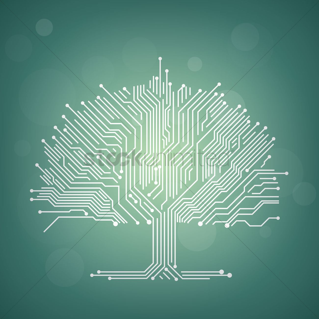 Circuit Board Tree Design Vector Image 1948231 Stockunlimited Royalty Free Clip Art Simple Drawing Of A Graphic