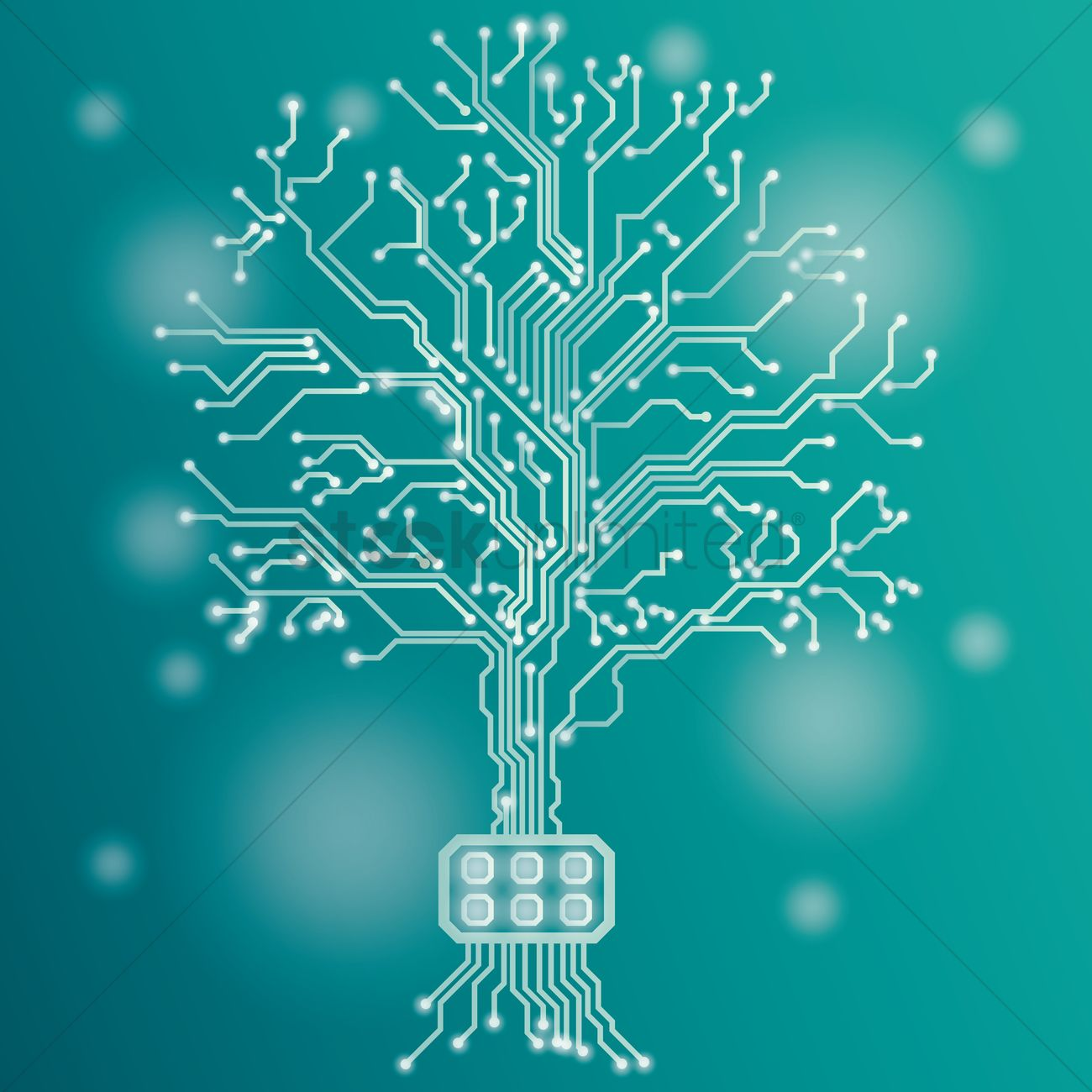 Circuit board tree design Vector Image - 1948519 | StockUnlimited
