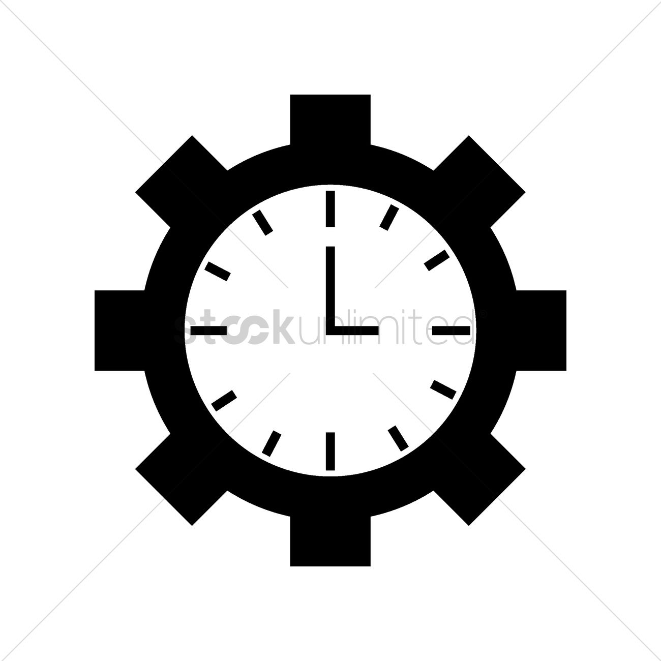Clock icon Vector Image - 2004599 | StockUnlimited