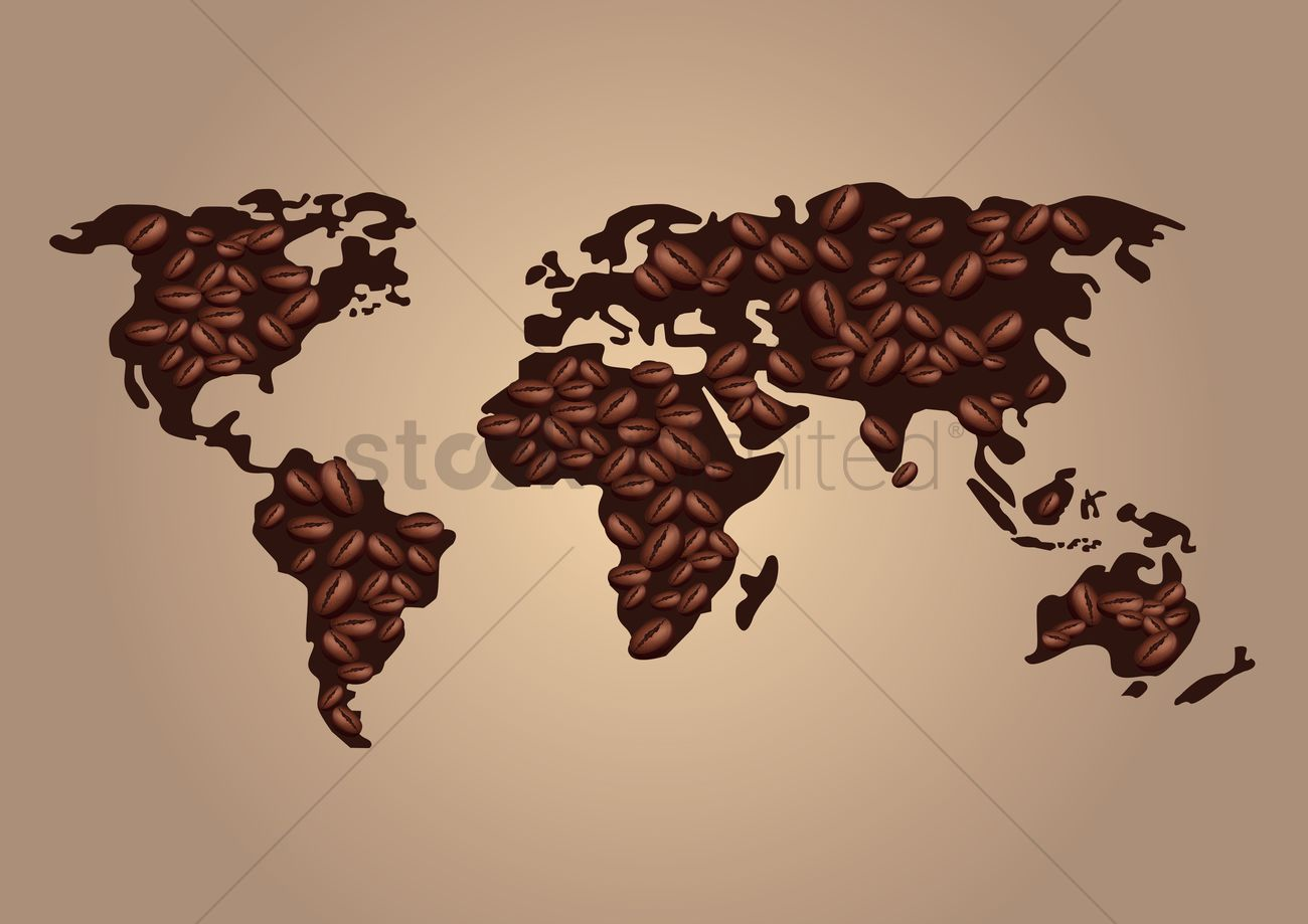 Coffee beans world map design vector image 1992571 stockunlimited coffee beans world map design vector graphic gumiabroncs Image collections