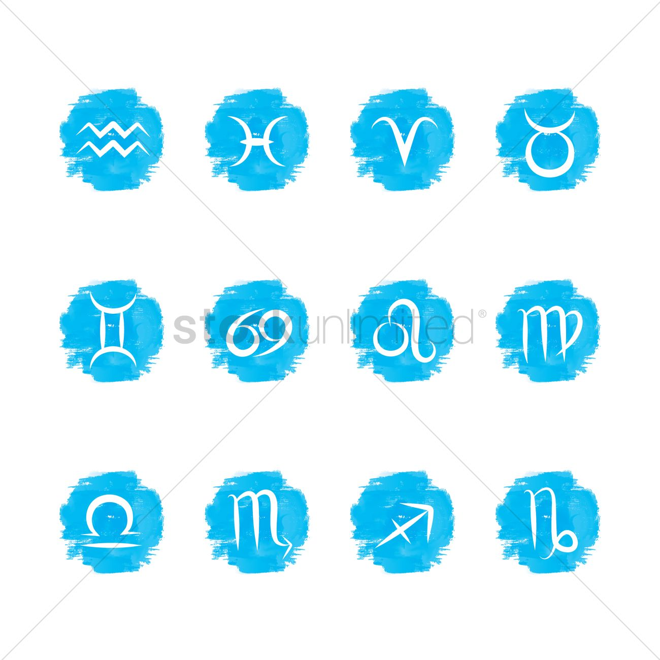 Collection Of Horoscope Symbols Vector Image 1988803 Stockunlimited