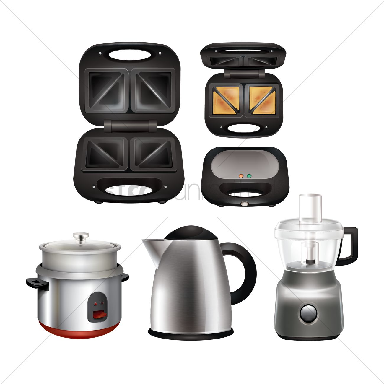 Collection Of Kitchen Appliances Vector Image 1812655
