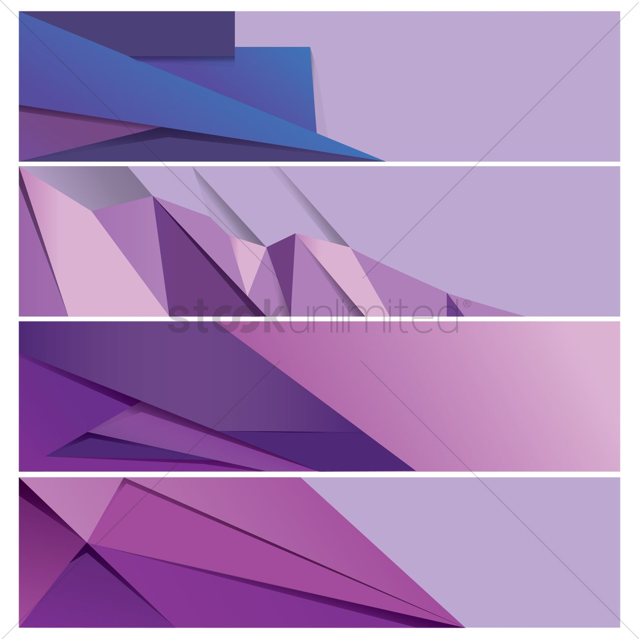 collection of modern web banner designs vector image 1956415