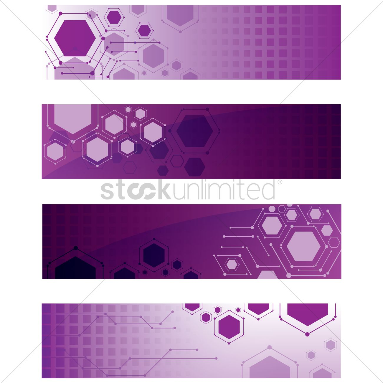 collection of purple web banner designs vector image 1943771