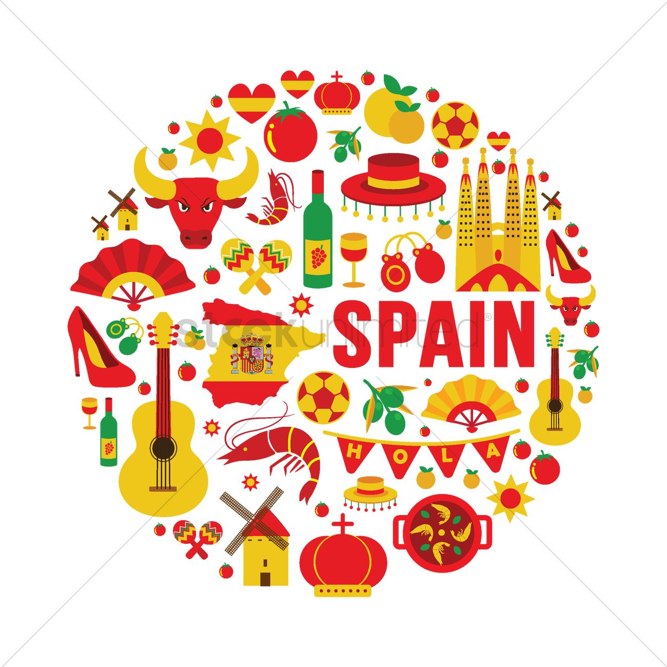 collection of spain icons vector image 1565071 free clipart american flag free american flag clipart