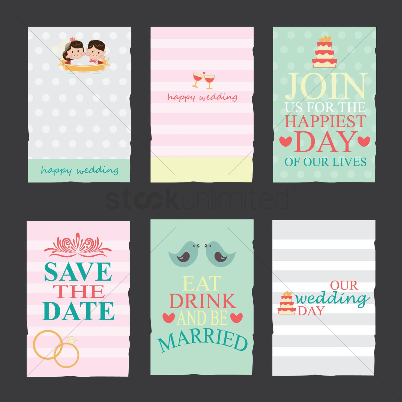 Collection of wedding invitation cards vector image 1799987 collection of wedding invitation cards vector graphic stopboris Gallery