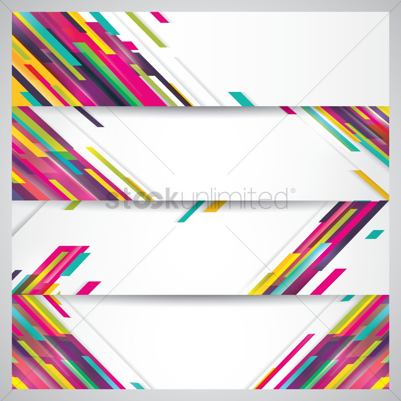 colorful banner set vector image 1825887 stockunlimited