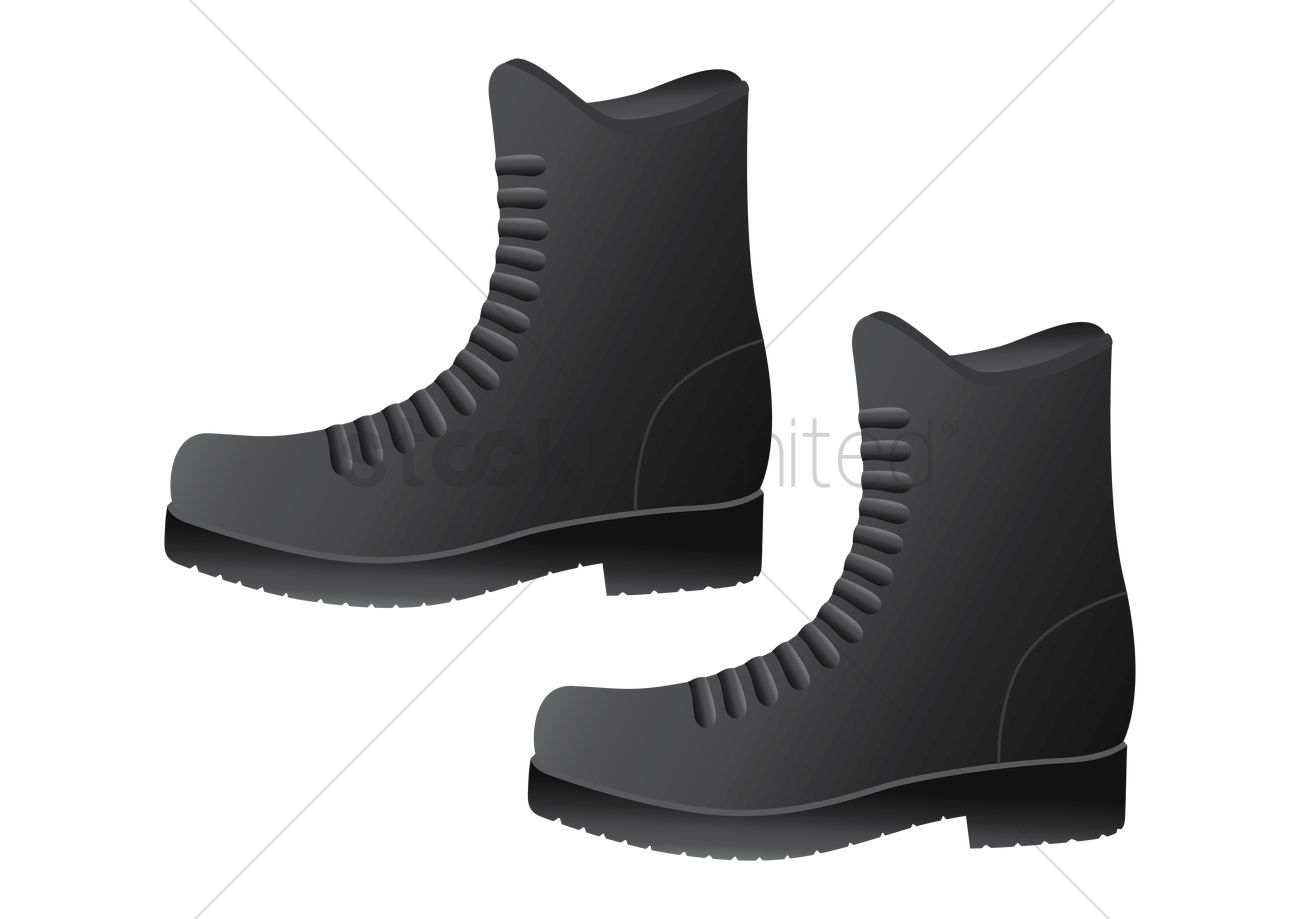 Combat boots Vector Image , 1501503