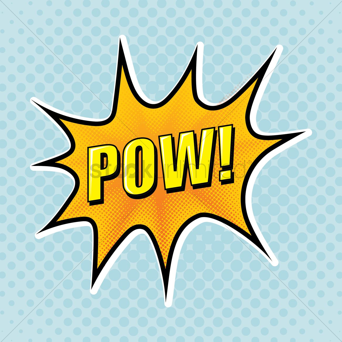 comic bubble pow vector image