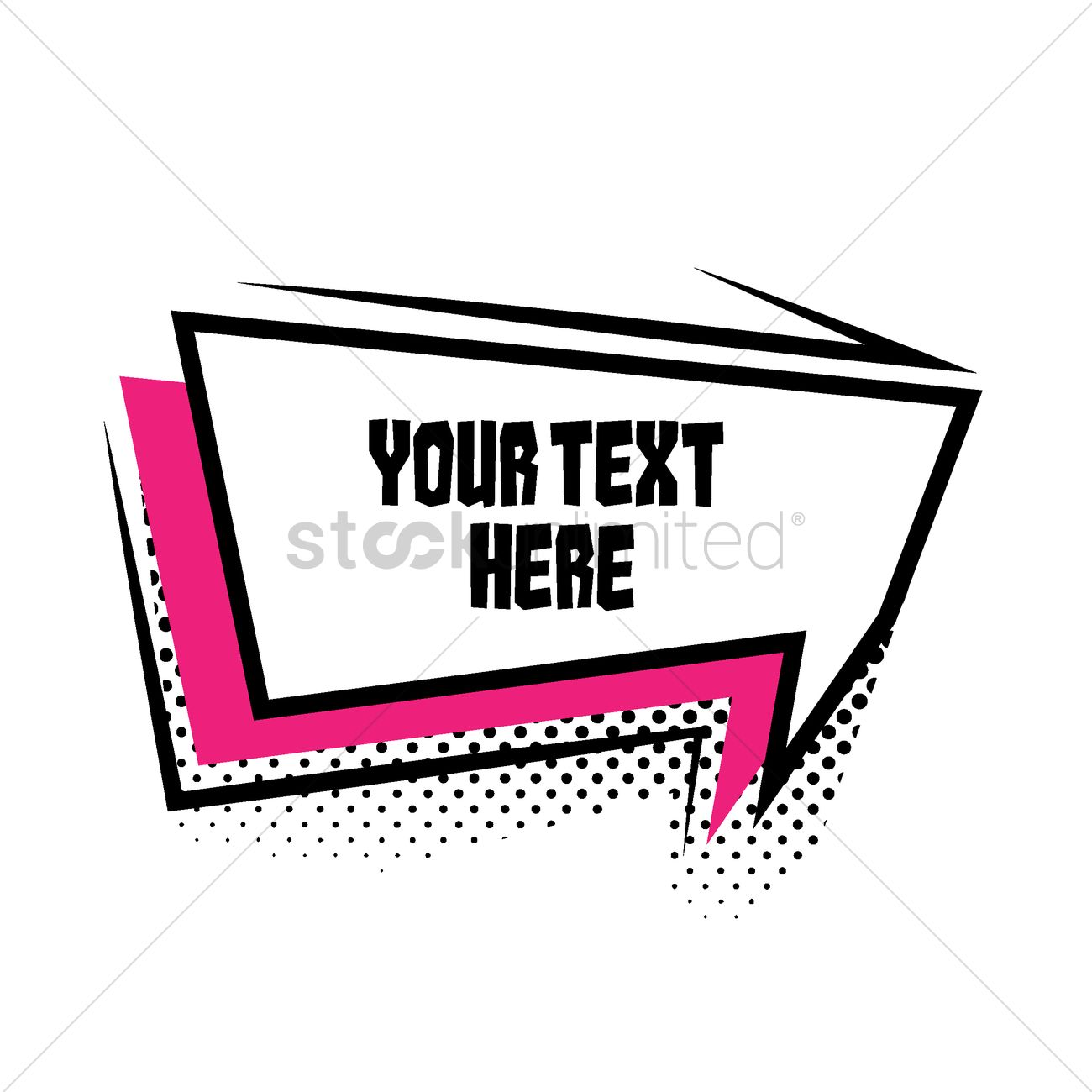 text bubble template