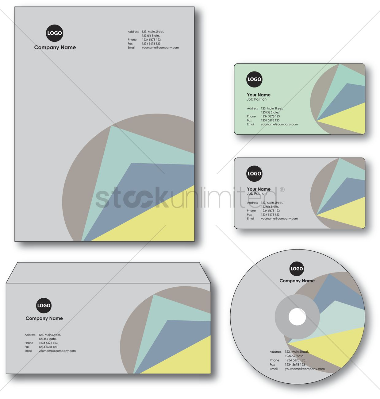 Company paper envelope business card and cd vector image 1235451 company paper envelope business card and cd vector graphic reheart Gallery