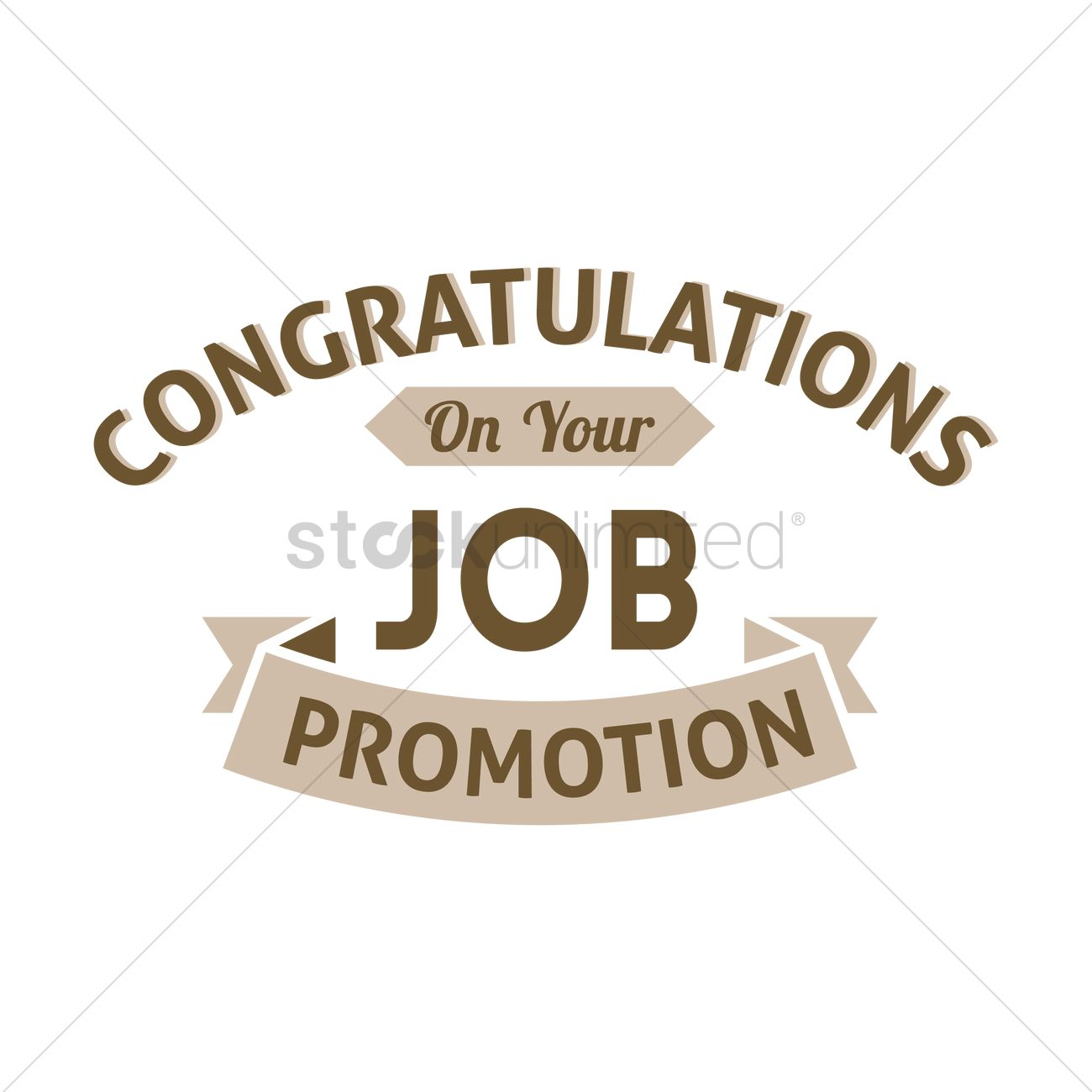 congratulation job promotion wish vector graphic