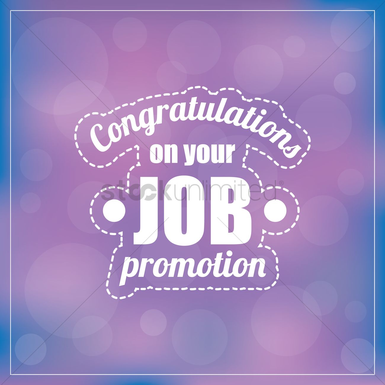 Congrats On Your New Job Quotes: Congratulations On Your Job Promotion Vector Image