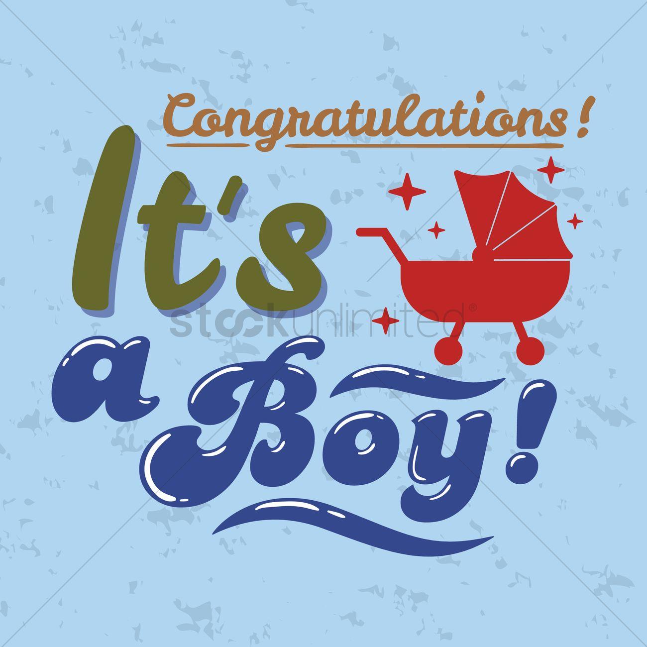congratulatory message for a baby boy vector image 1827391