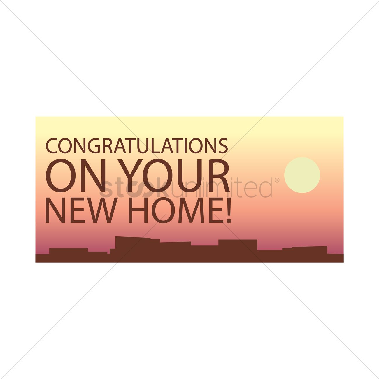 Congratulatory message on your new home Vector Image