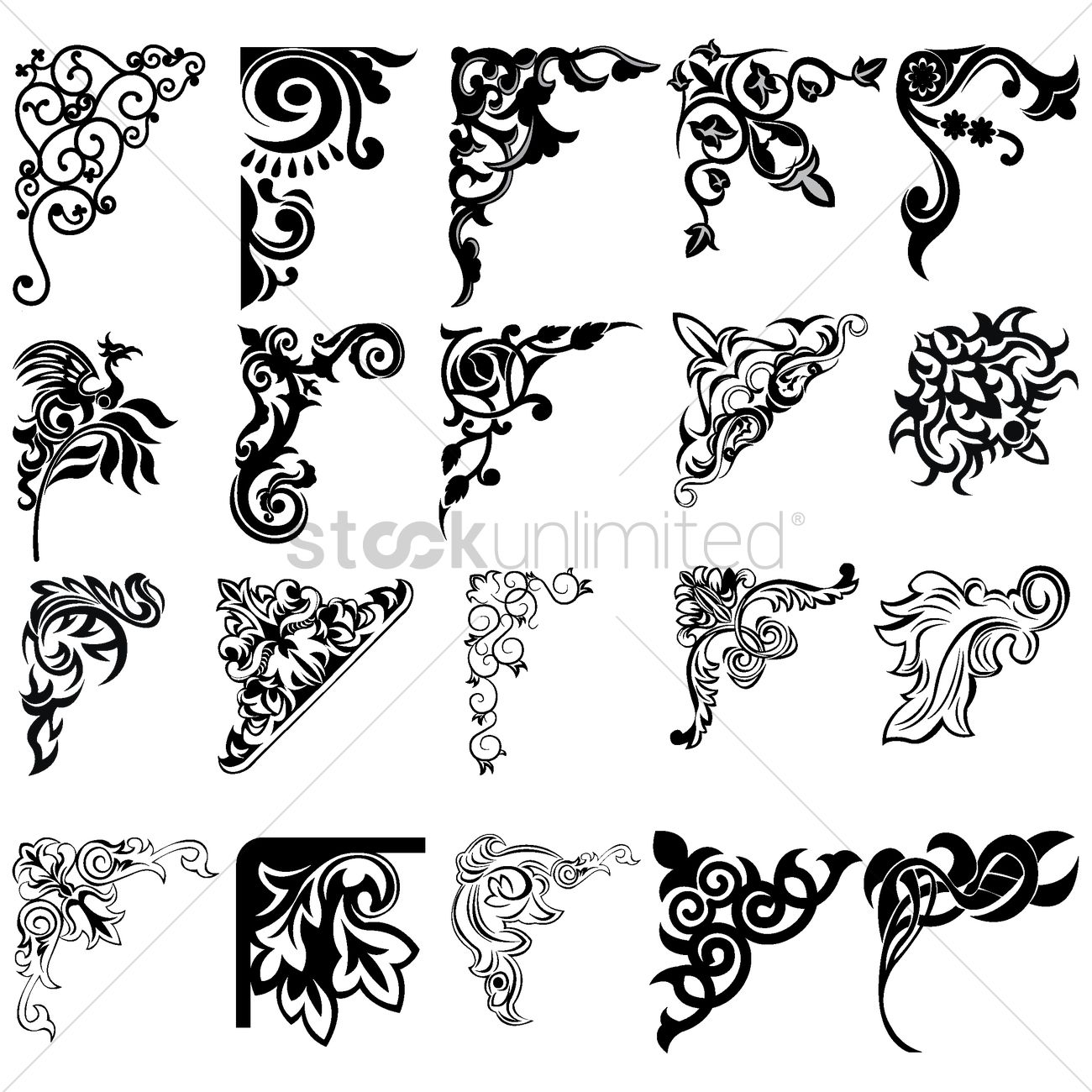 corner element designs vector image 1515567 stockunlimited