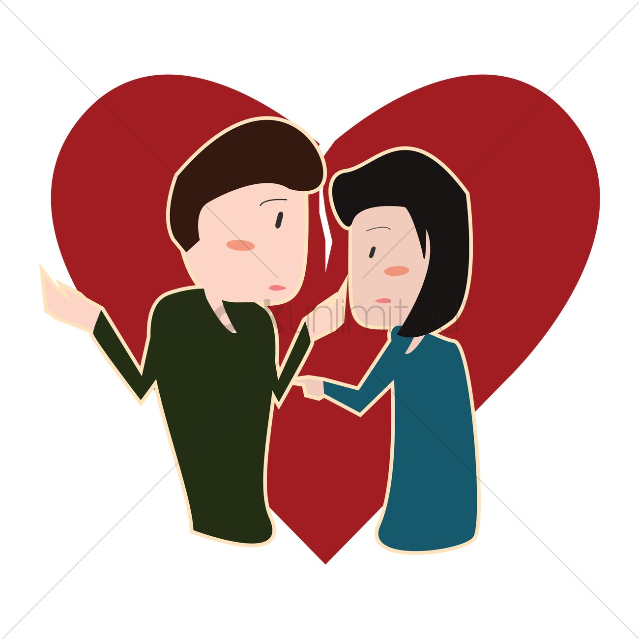 Couple in a romantic relationship Vector Image - 1305959