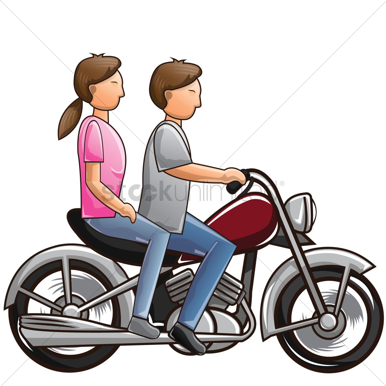 couple riding motorcycle vector image 1566211 stockunlimited rh stockunlimited com motorcycle vector art motorcycle vector bundle commercial license