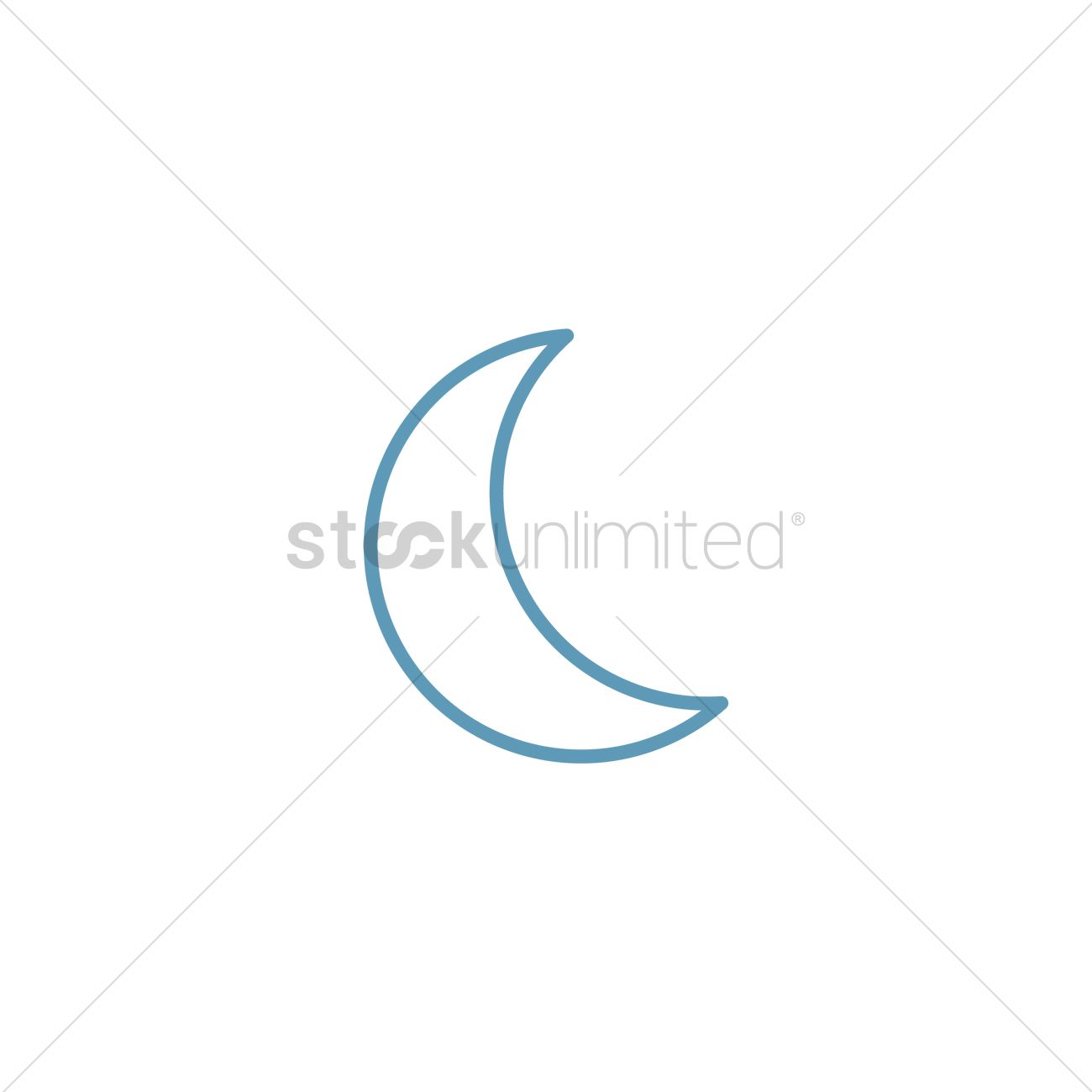 free crescent moon vector image 1283475 stockunlimited stockunlimited