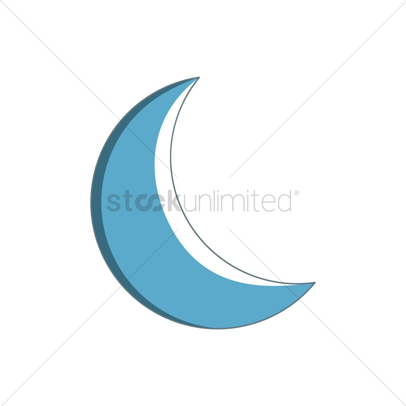free crescent moon vector image 1364755 stockunlimited stockunlimited