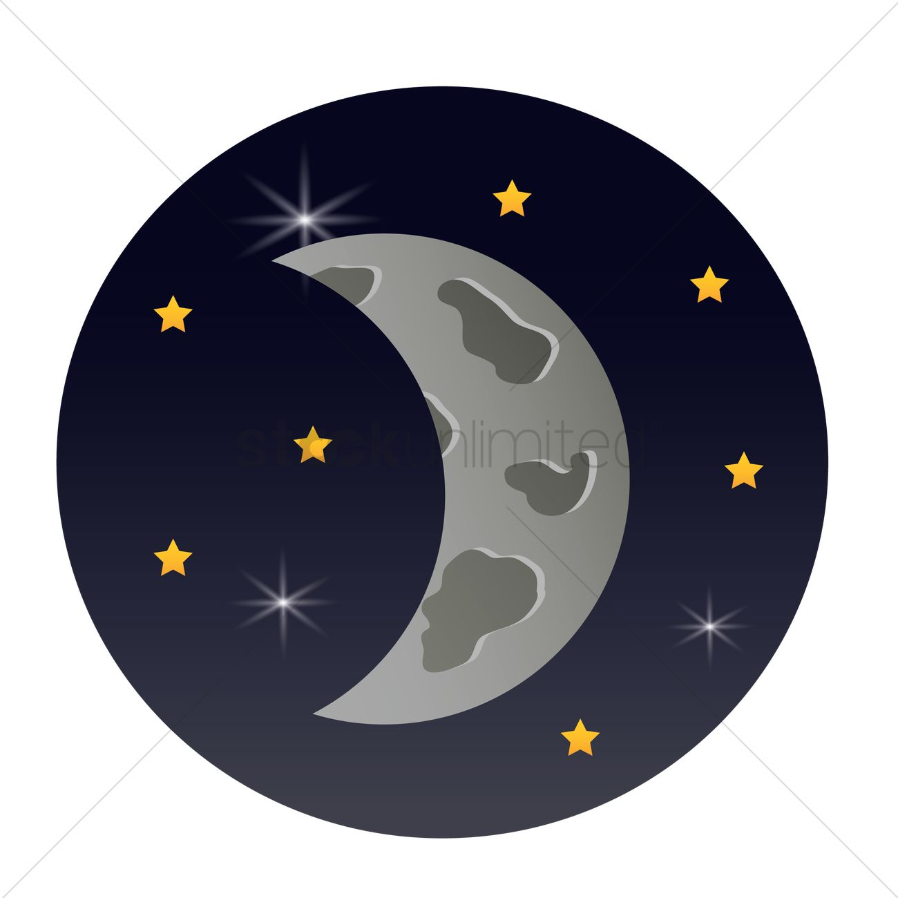 crescent moon vector image 1952103 stockunlimited crescent moon vector image 1952103