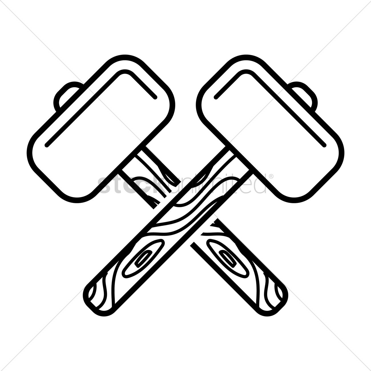 Crossed Hammers Vector Image 1524839 Stockunlimited
