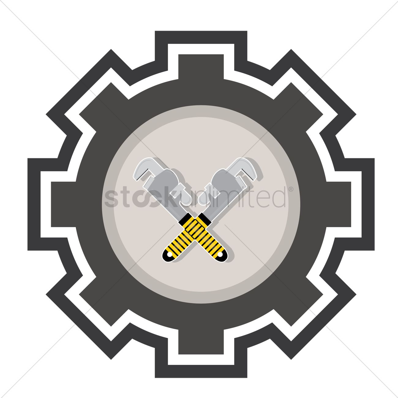 crossed pipe wrenches vector graphic  sc 1 st  StockUnlimited & Crossed pipe wrenches Vector Image - 1619727   StockUnlimited