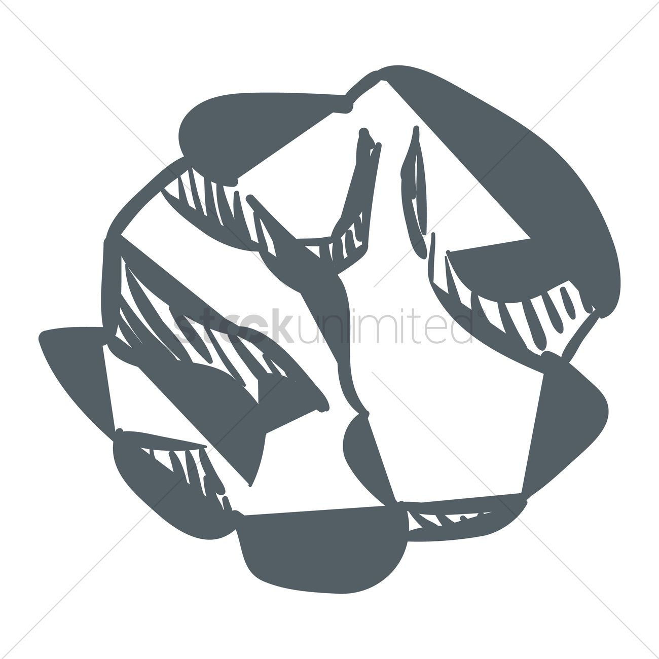 crumpled paper ball vector image - 1819127 | stockunlimited
