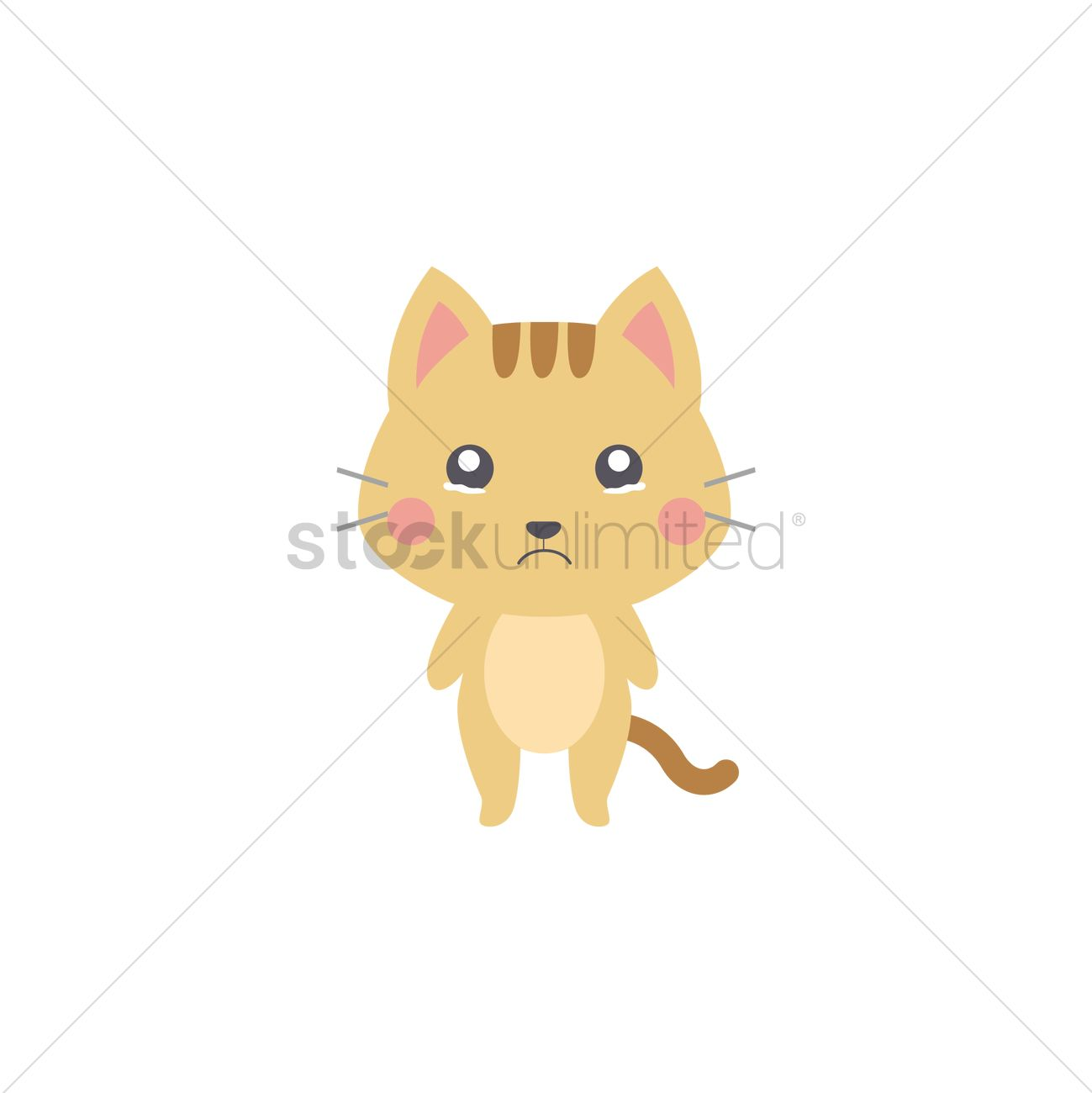 27fec2ac2913 Crying cat Vector Image - 2030639