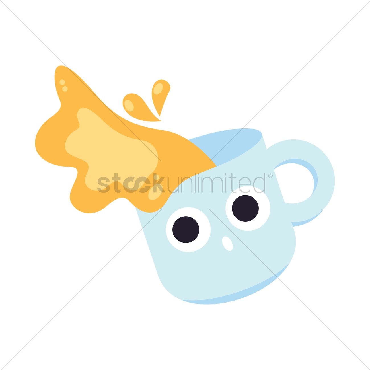 Cup Of Milk Tea Spill Vector Image 2016915 Stockunlimited
