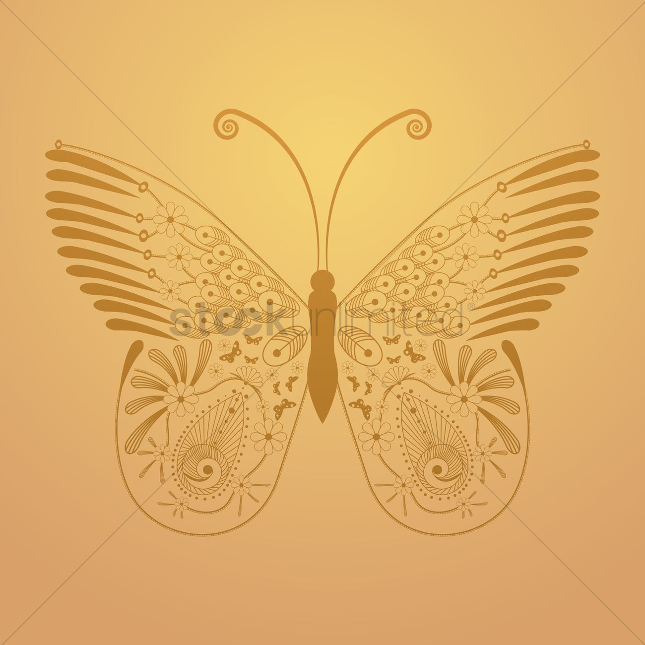 Decorative butterfly Vector Image - 1619195   StockUnlimited