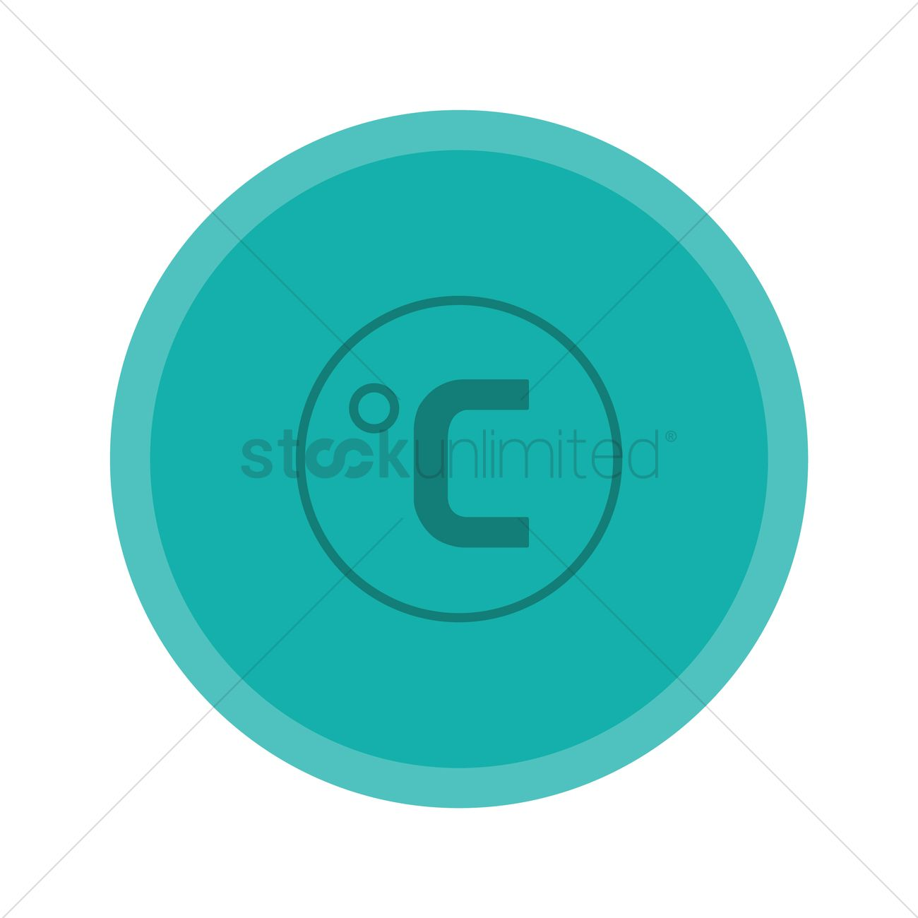 Free Degree Celsius Symbol Vector Image 1284739 Stockunlimited
