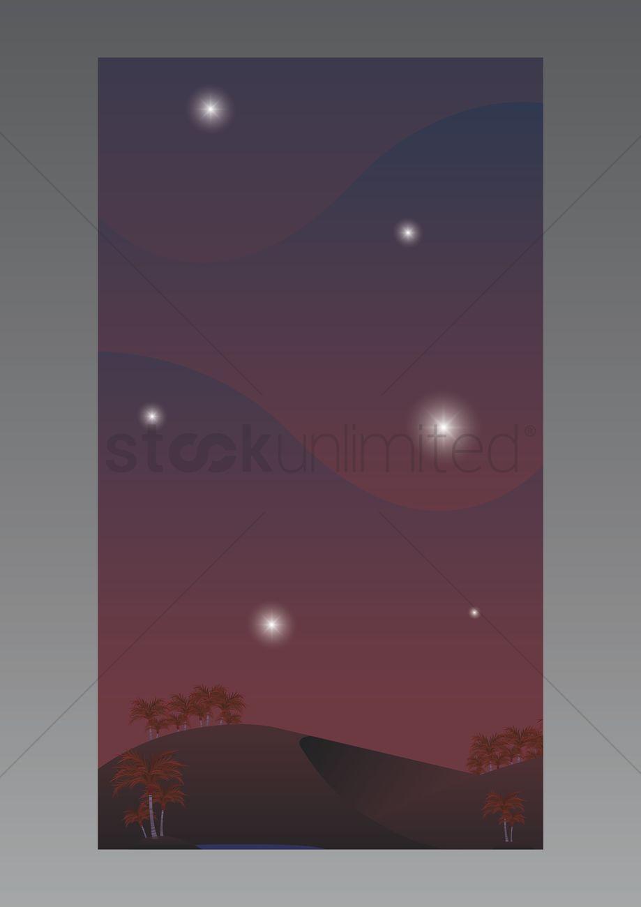Desert Wallpaper For Mobile Phone Vector Image 1635743
