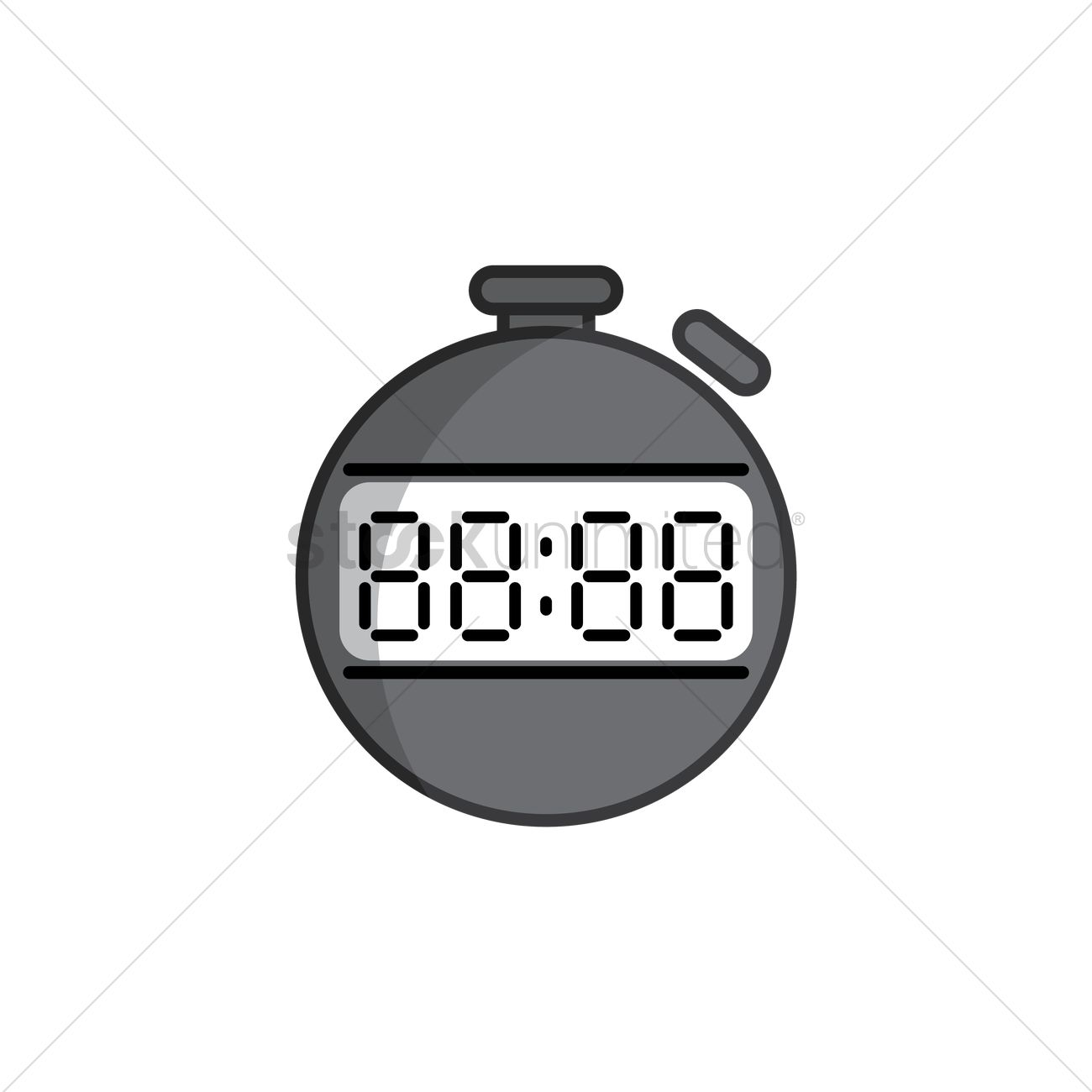 Digital stopwatch Vector Image - 2021907 | StockUnlimited