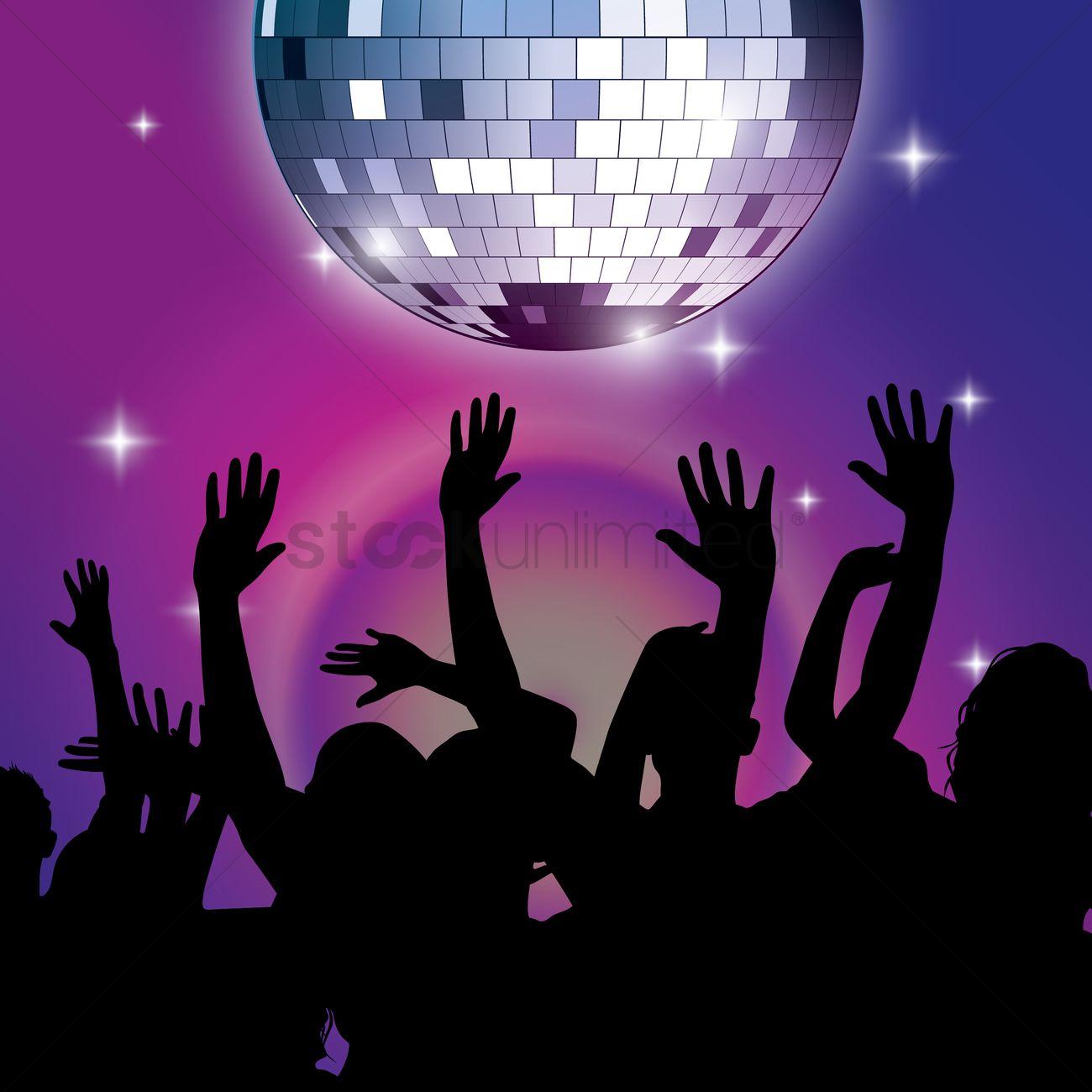 Disco Ball Party Design Vector Image 1936047