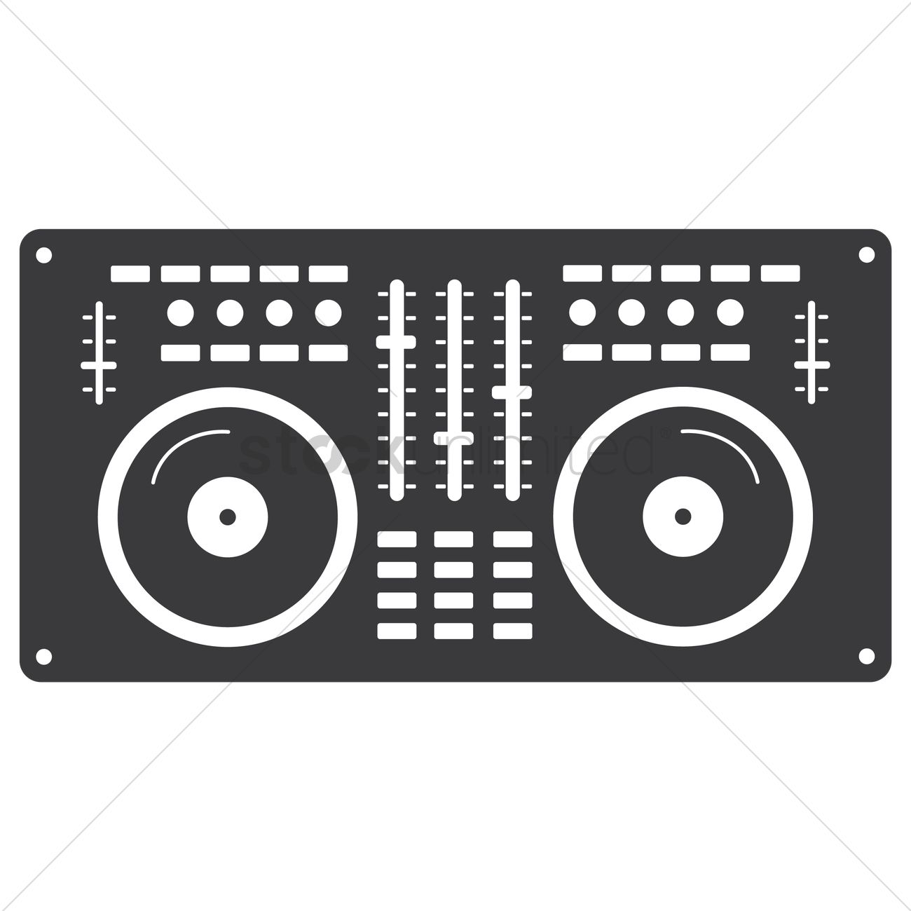 Dj Mixer Vector Graphic