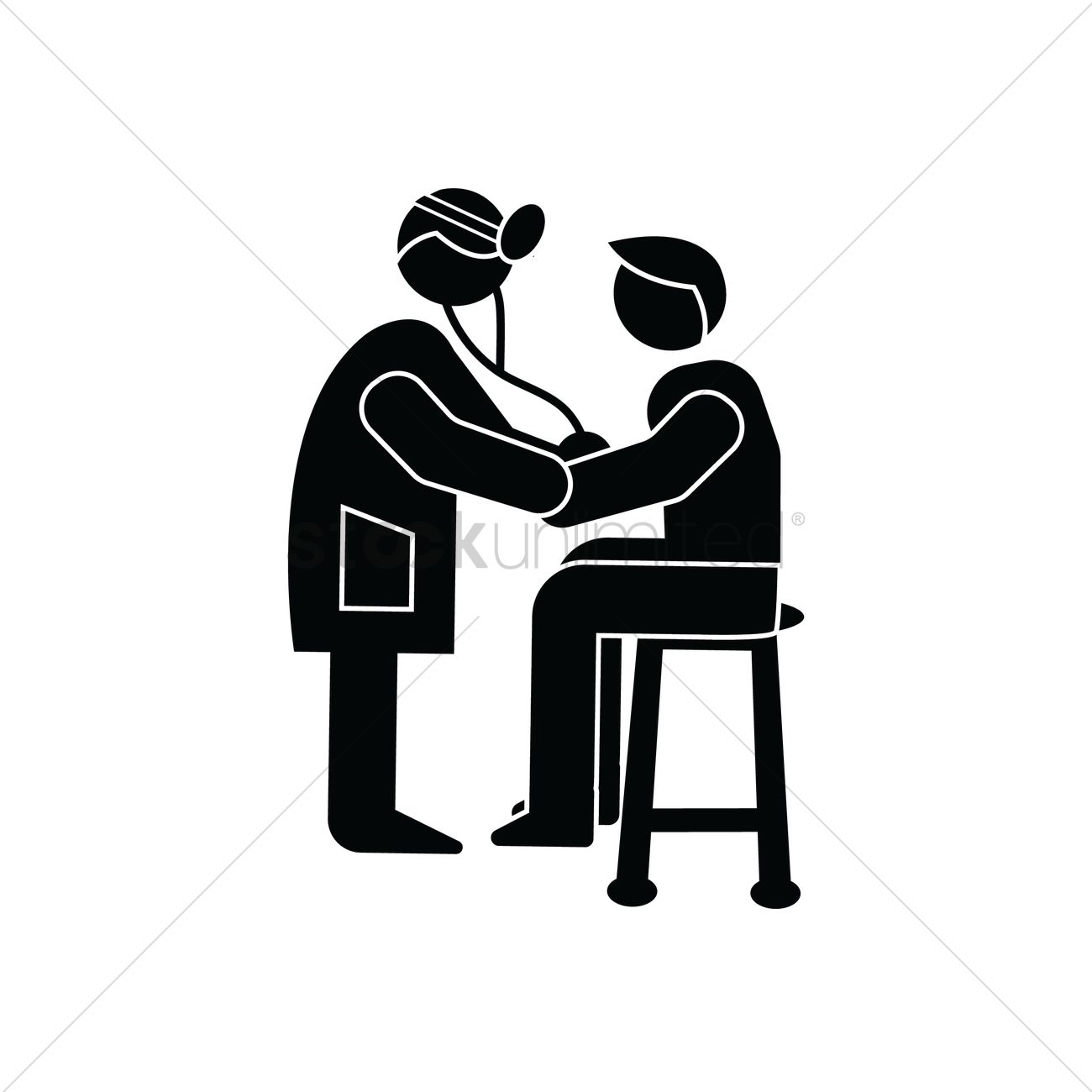 doctor diagnosing a patient vector image 1505659 stockunlimited doctor diagnosing a patient vector