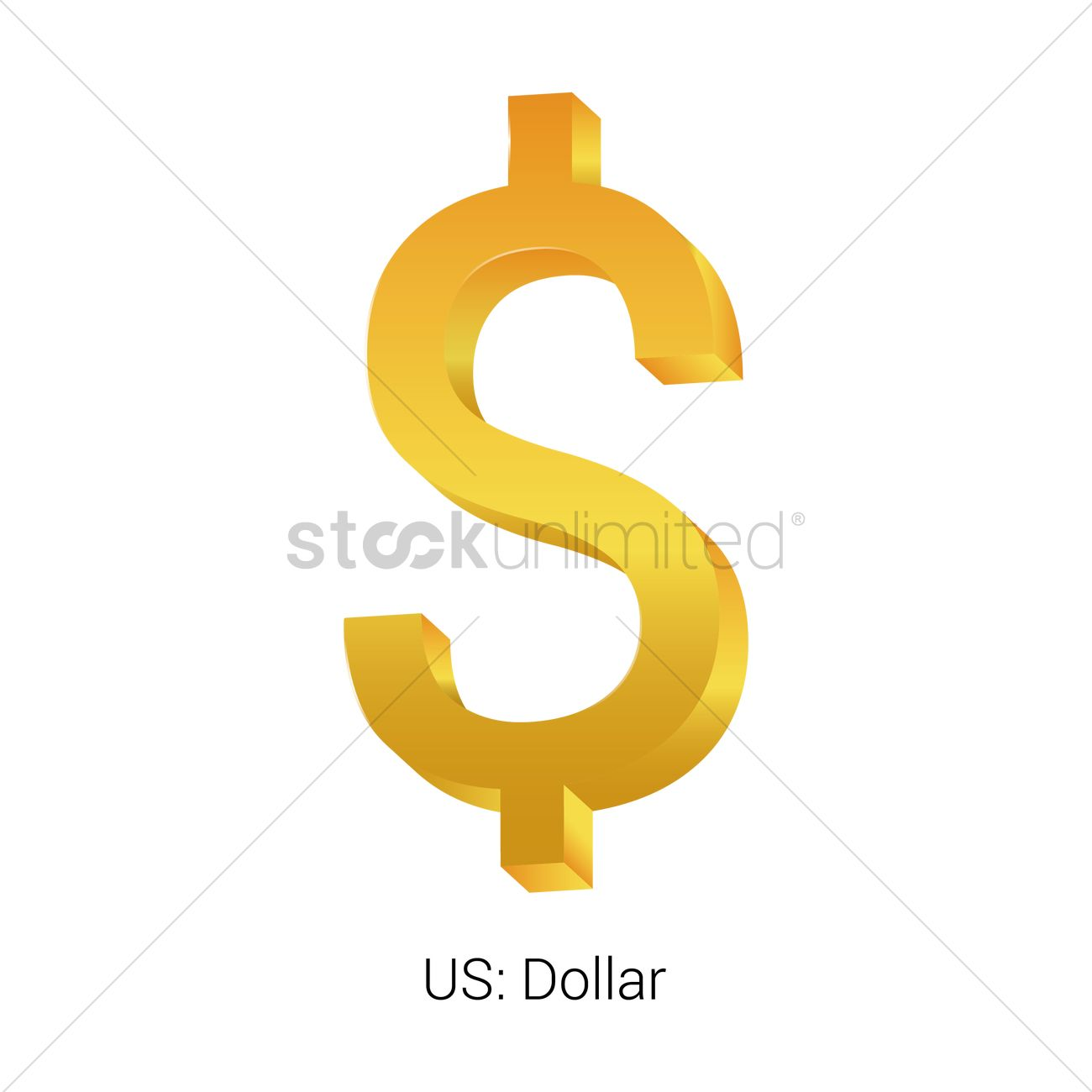 Dollar Currency Symbol Vector Image 1821535 Stockunlimited