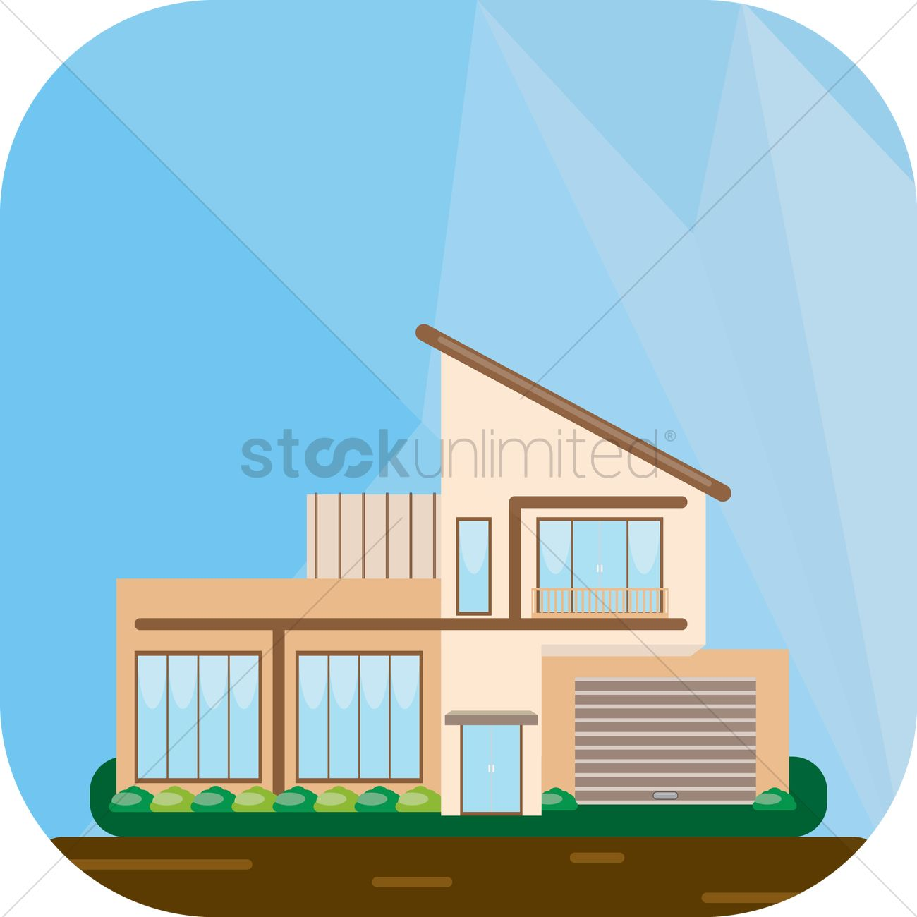Double storey modern house Vector Image 1350451 StockUnlimited