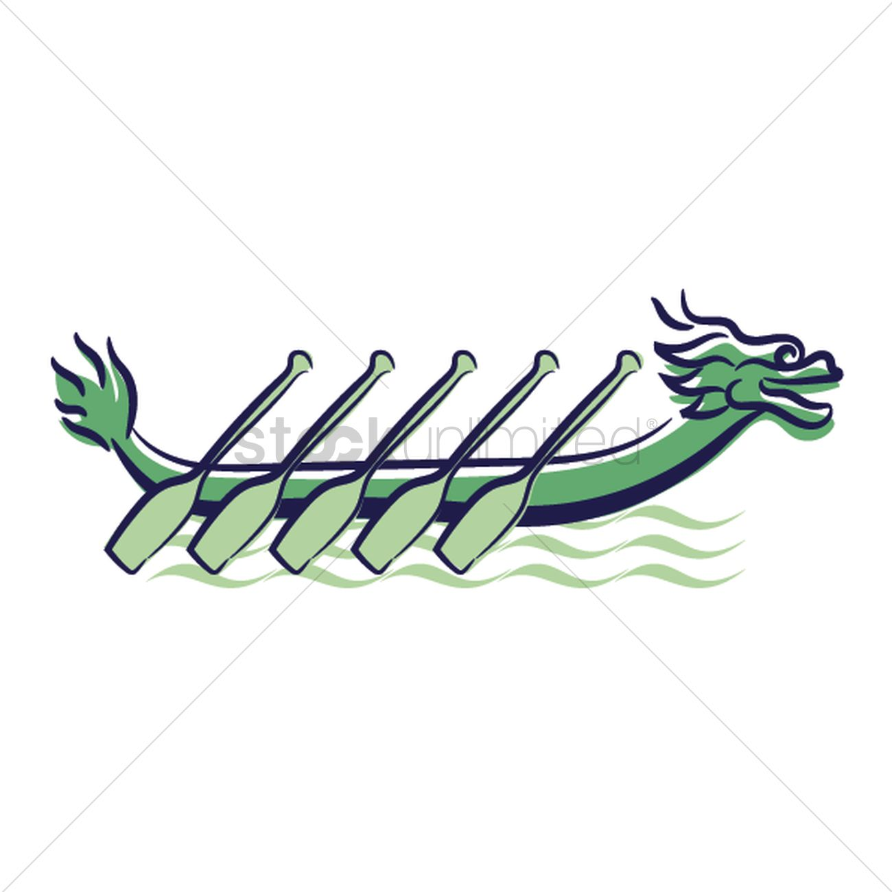 Dragon Boat Vector Graphic