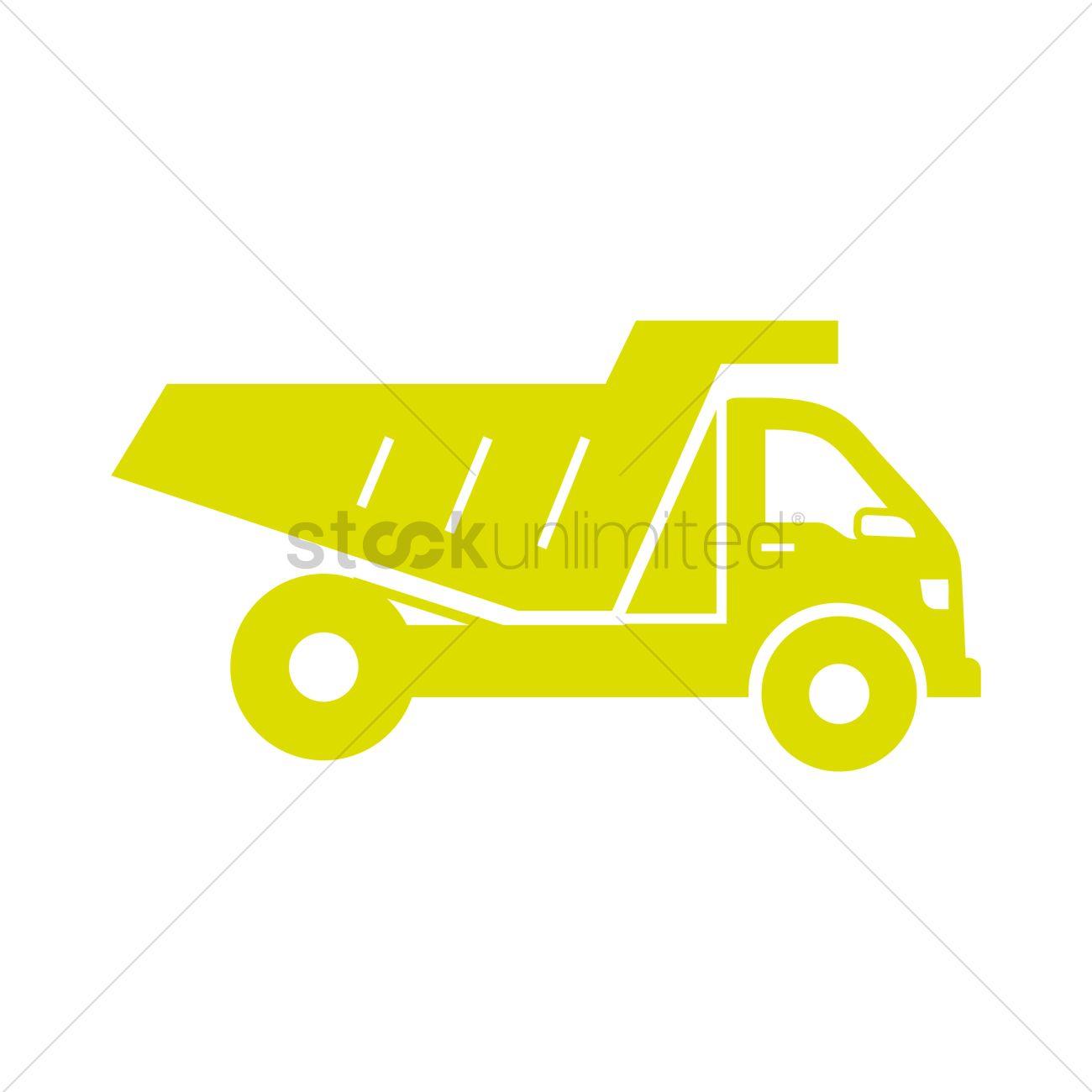 dump truck icon vector image 2023043 stockunlimited