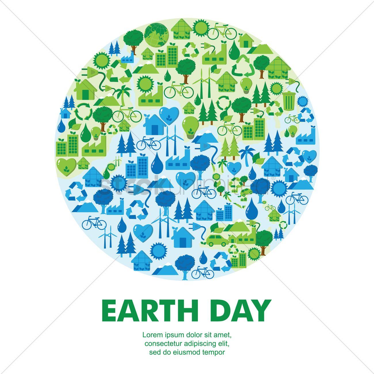 Earth day icon concepts vector image 1276707 stockunlimited earth day icon concepts vector graphic buycottarizona