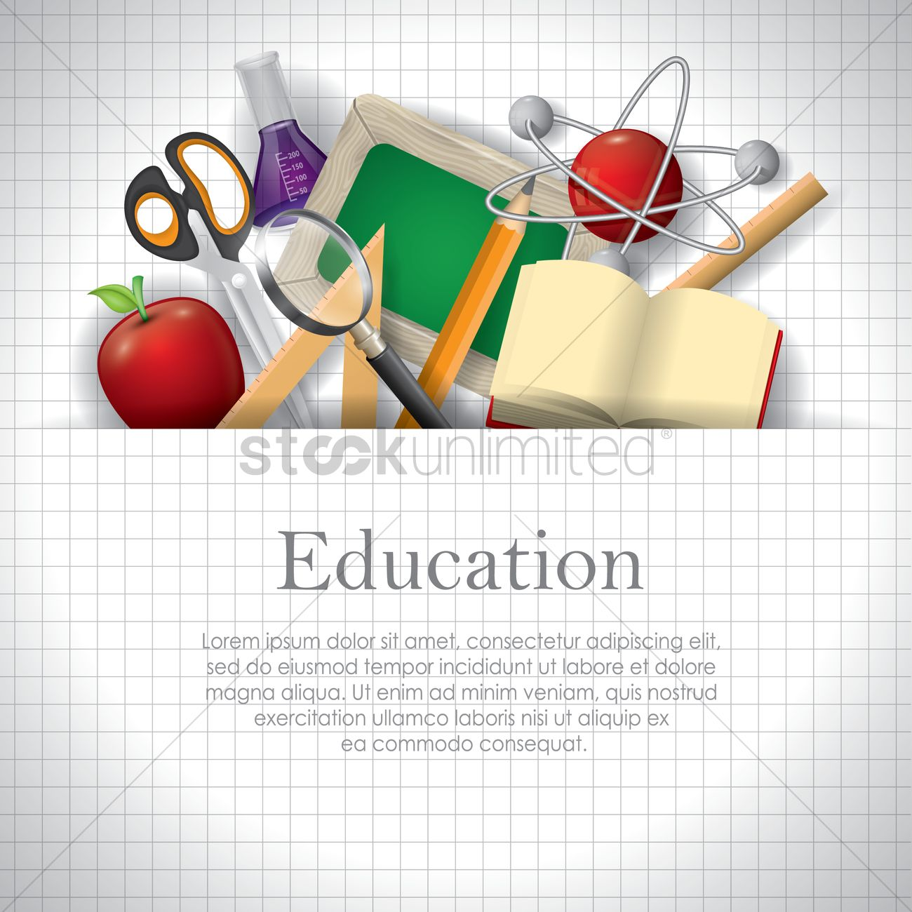Education Wallpaper Vector Image - 1821875