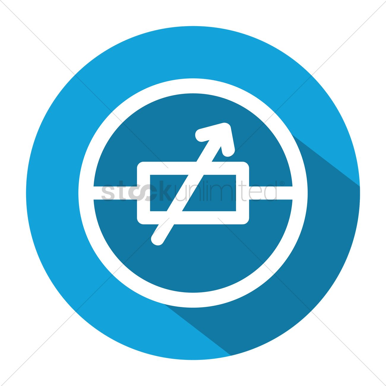 Electric Circuit Symbol For Variable Resistor Vector Image 1248231 Graphic