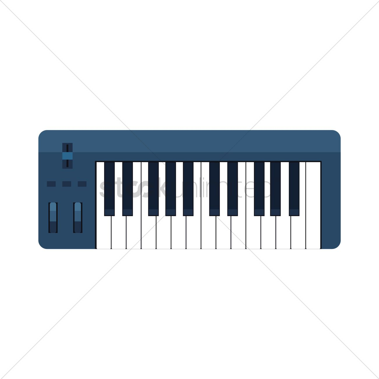 Electric Piano Vector Graphic